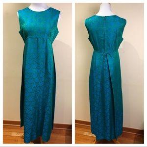 VINTAGE 60s Jacquard Column Dress by Malia Hawaii